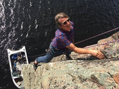 Rock Climbing Photo: Boat belay on The Emerald Wall. Summer 2016. Photo...