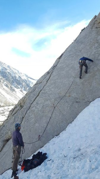 Climbing this unknown route in mid march...Fun stuff!