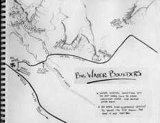 Rock Climbing Photo: Overview Map of the Big Water Boulders