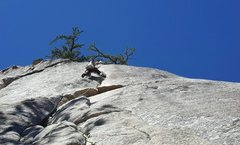 Rock Climbing Photo: Just after pulling the crux (slightly insecure) wi...