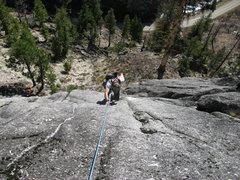 Rock Climbing Photo: Rob curran follows pitch 1