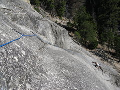 Rock Climbing Photo: Rob starting pitch2