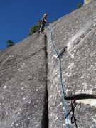 Rock Climbing Photo: Tim on top of pitch 3 during FA