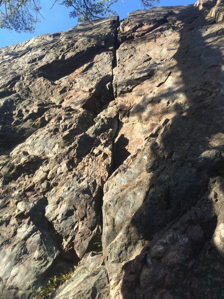 Rock Climbing Photo: Picture of the route. PC Bradly Biggs