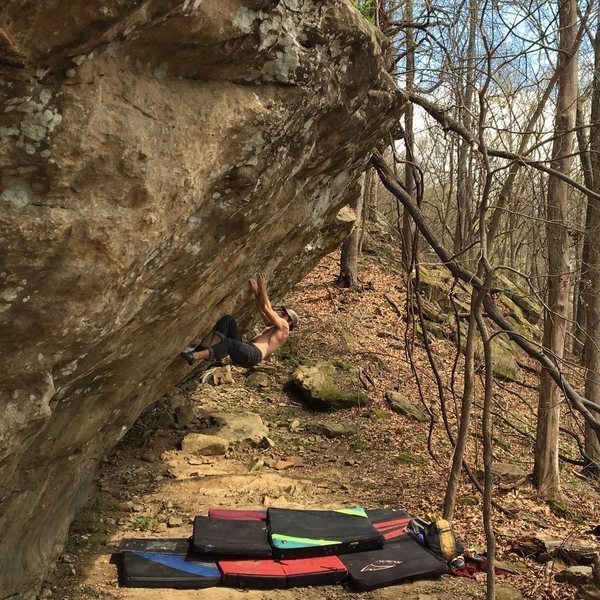 Rock Climbing Photo: Local working Leatherface