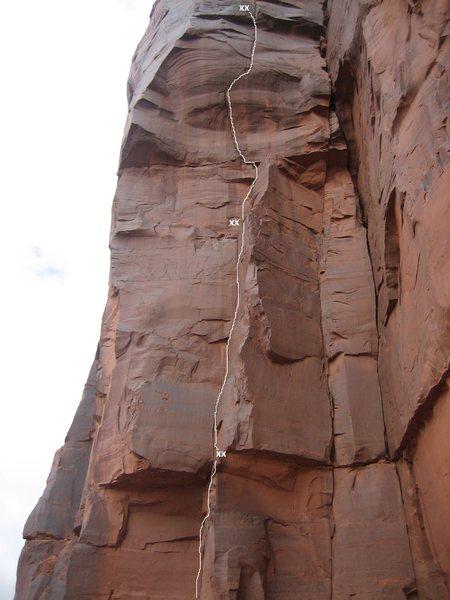 Rock Climbing Photo: Pitches 1-3