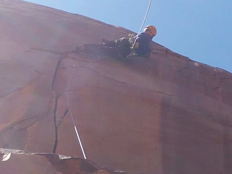 Rock Climbing Photo: Andrew Wilder on the thrilling crux of Buddha'...