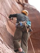 Rock Climbing Photo: Andrew Wilder bolting on Lead - pitch 3