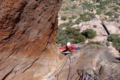 Rock Climbing Photo: Ellen Brodrick on finger cracks of pitch 1. April ...