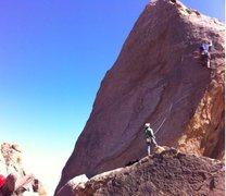 Rock Climbing Photo: Josh on Hillbilly pillar....onsight flashed it lik...