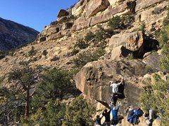 Rock Climbing Photo: gettin the jug