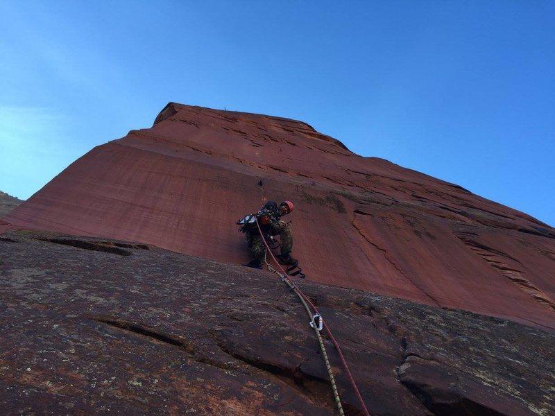 Rock Climbing Photo: first headwall pitch