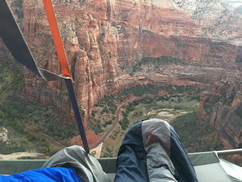 Rock Climbing Photo: Prodigal Son bivy