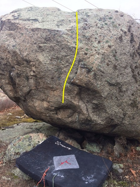 Unnamed V1 on the southwest face.