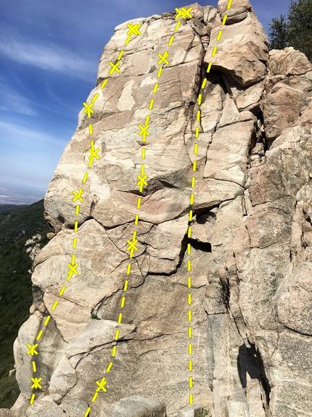 Rock Climbing Photo: Inner Temple Wall L-R Crimp-Tick Combination (5.10...