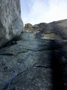 Rock Climbing Photo: View from the bottom of Mukat