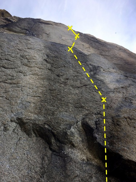 Rock Climbing Photo: View from the bottom of The Bread Loaf