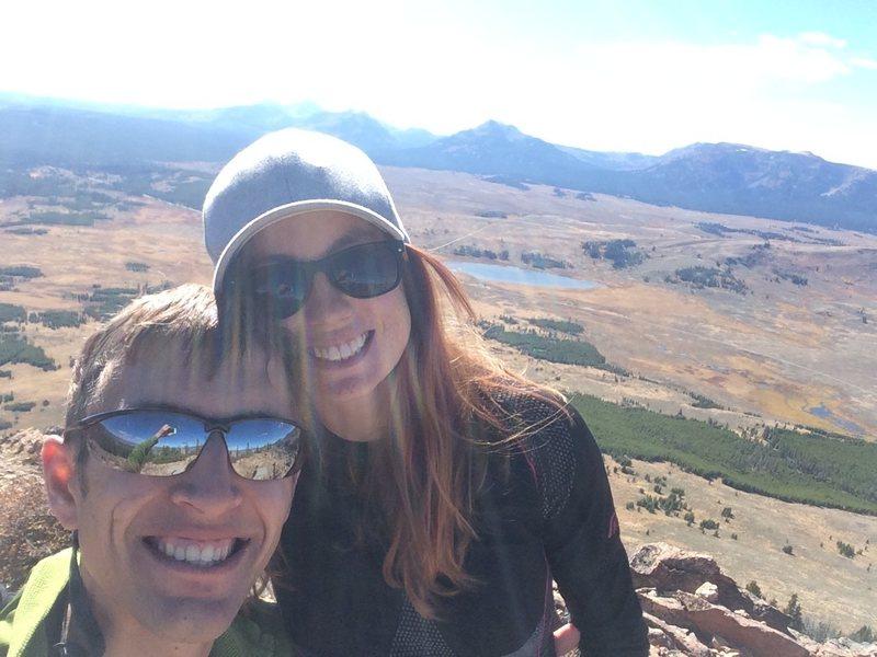 Rock Climbing Photo: Me and Abbey, Yellowstone