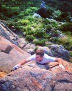 Rock Climbing Photo: Topping out on Hangman's climb