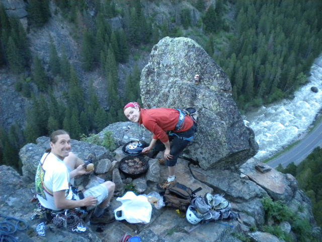 Rock Climbing Photo: Grilling up top :)