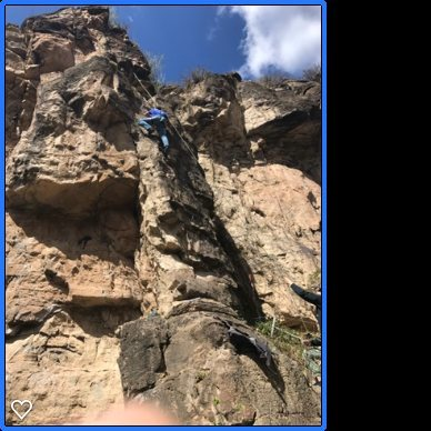 Rock Climbing Photo: 1st outdoors climb ever and in Colorado.