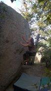 Rock Climbing Photo: Travis on Flying Fish