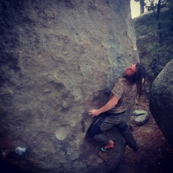Rock Climbing Photo: Start of Thanks for the Mammaries V3