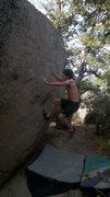 Rock Climbing Photo: Flying Fish V0+, Classic run and jump problem at G...