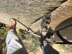 Rock Climbing Photo: Aid Seam