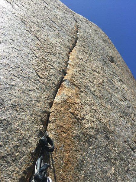 Rock Climbing Photo: aid seam/Woodson