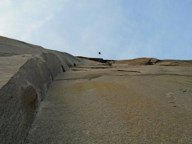 This section of El Cap is steep!!