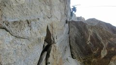 Rock Climbing Photo: Steep!!...Leaning Tower West Face