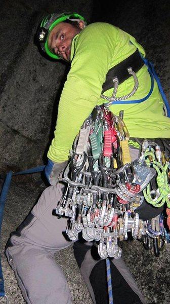 Rock Climbing Photo: Salathe night climbing