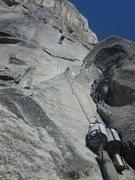 Rock Climbing Photo: hauling up to heart ledge