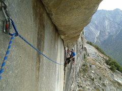 Rock Climbing Photo: Zodiac pitch 2 traverse