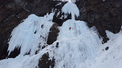 Rock Climbing Photo: Tim repelling off Skelton Lady after a proud lead.