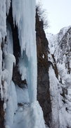 Rock Climbing Photo: Scoping out the Crux section of skeleton lady atop...