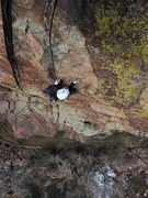 Rock Climbing Photo: Joseffa deciphering the last of the harder moves o...