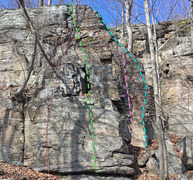 Rock Climbing Photo: Fairy Tales - right side from S: