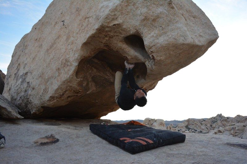 Rock Climbing Photo: Jared Godfrey on Double Orifice