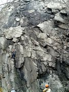 Rock Climbing Photo: Climber on Cliff Monster