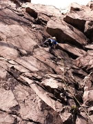 Rock Climbing Photo: Paul Meehan leading up Crown of Thorns.