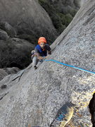 Rock Climbing Photo: The angle of the pic conceals the razor crack of P...