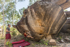 Rock Climbing Photo: Bouldering at Hin Chang Si, Nam Pong national park...