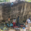 Group of climbers at His Chang Si, Nam Pong National Park, Khon Kaen
