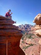 Rock Climbing Photo: Mark chillin on the main summit after making the j...