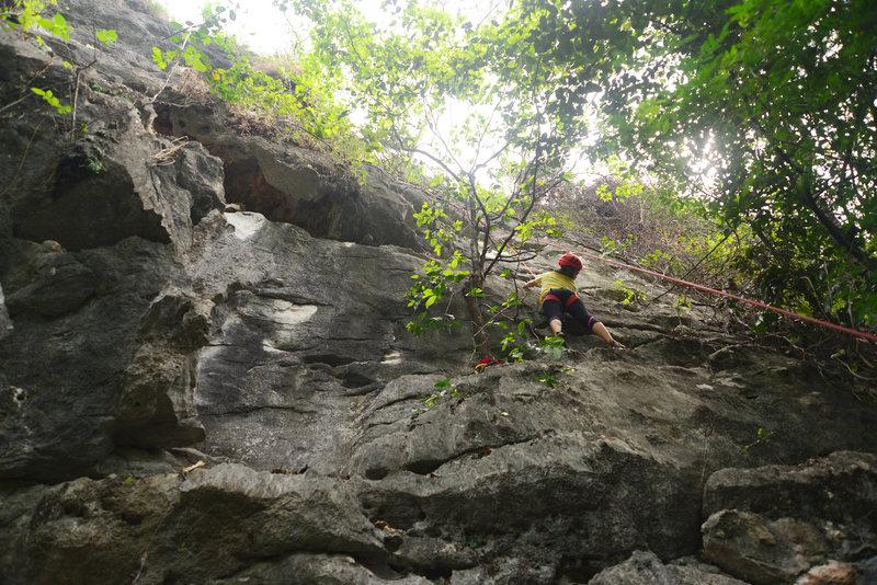 Yee-Haw 5.9+, Covert Crag, Dong Lan Forest, Khon Kaen