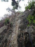 Rock Climbing Photo: Judy finished leading 'Ooh La La' 5.10b/c,...