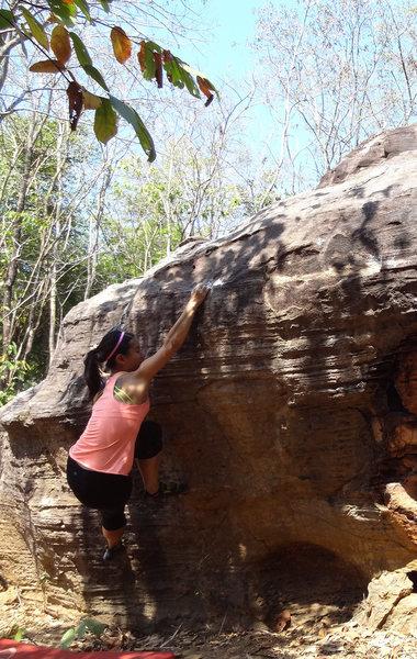 Wan on Sister 2 boulder
