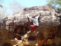 Rock Climbing Photo: Judy on Pookachaw V4, Sister 2 boulder